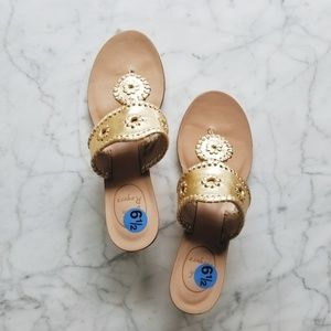 New Jack Rogers Gold Cork Wedges - 6.5M